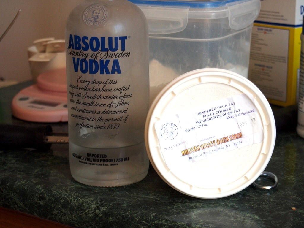 secret ingredients vodka and duck fat